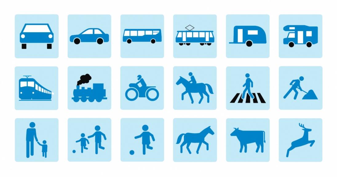 AUVA - Verkehrspiktogramme
